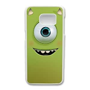 Generic Fashion Hard Back Case Cover Fit for Samsung Galaxy S7 Cell Phone Case white Monsters University with Free Tempered Glass Screen Protector PKL-6022396