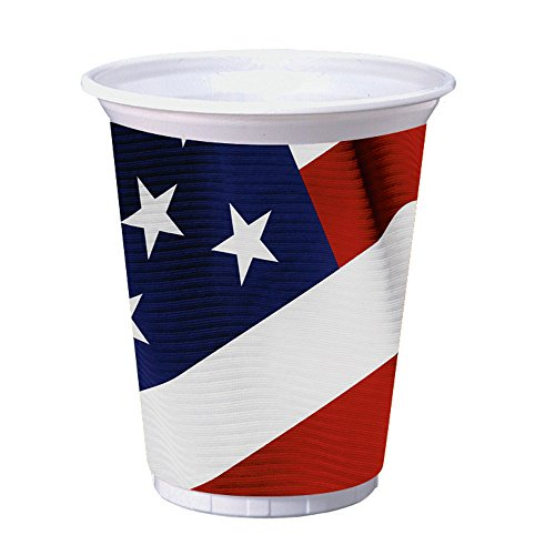 Creative Converting 8 Count Plastic Cups, 16-Ounce, American Valor