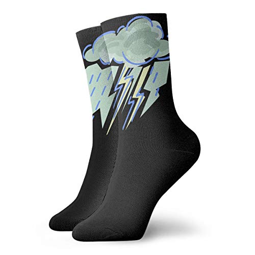 YUANSHAN Socks Cloud Lightning Women & Men Socks