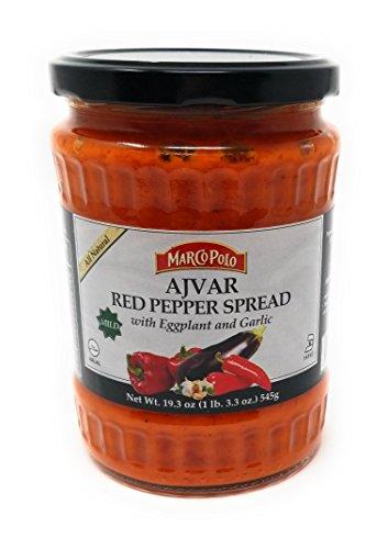 Marco Polo Mild Ajvar Red Pepper Spread, 19.3 - Vegetable Spread Mild