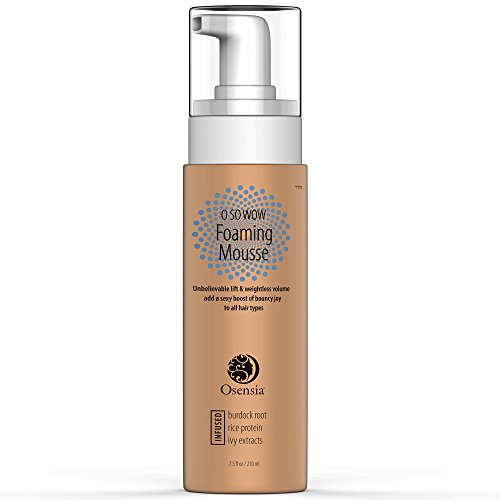 Styling Foam – Natural Thickening, Weightless Volume & Lift for Thin, Curly & Normal Hair – Strengthens, Protects & Builds Volume for Bouncy Hair – Paraben, Sulfate & Alcohol Free Formula by Osensia