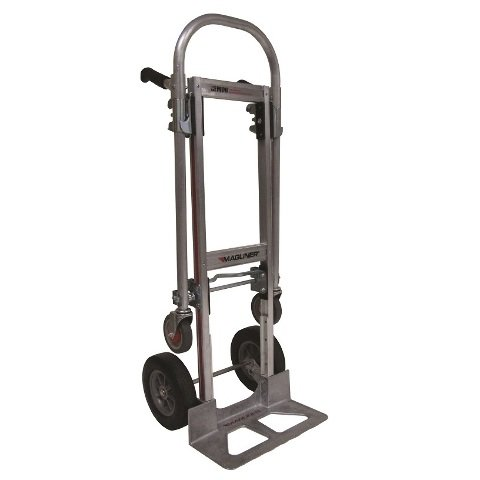 Gemini Junior Convertible Hand Truck with Wheel Brake on Two Casters