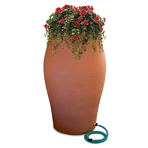 Urn Rain (Emsco Group 2264-1 Rescue Stoneware Urn Rain Barrel – Includes Planter Water Diverter, Outlet Hose, 85 Gallons, Terra Cotta)