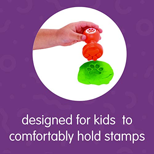 Item # DOUGHSN Shapes and Numbers Dough Stampers Set of 26 Arts /& Crafts Colorations Easy Grip