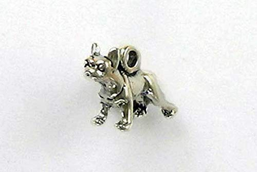 Sterling Silver 3-D Miniature Boston Terrier Charm, used for sale  Delivered anywhere in USA
