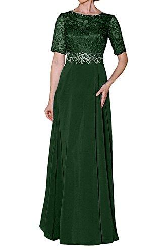 Chiffon Partykleider Festlichkleider Brautmutterkleider Kleider mia Gruen Abendkleider Formal La Elegant Dunkel Damen Braut Langes qAtwTH8R