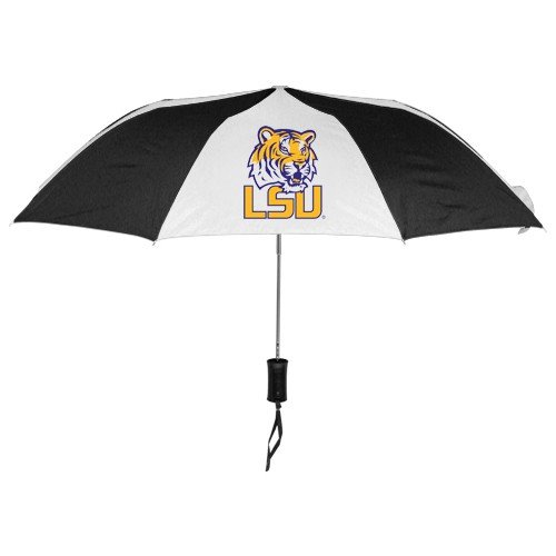 Louisiana State University Jersey - NCAA Louisiana State University Auto Folding Umbrella, Black