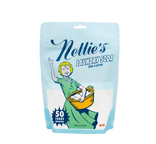 Nellie's Powder Laundry Detergent Soda, 1.6lbs, 50 Load Bag-Non-Toxic, Biodegradable ()