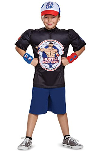 John Cena Classic Muscle WWE Costume, Black, Large (10-12) by Disguise