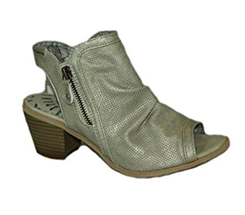 Mustang Women's Ice Low Heel Peep-Toe Summer Boot w8R0sP