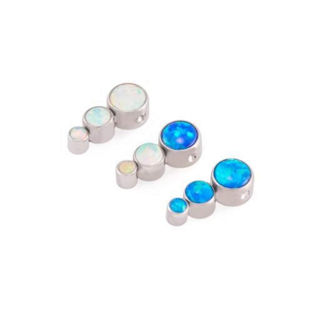 Price Per 1 Painful Pleasures Opal Tear Drop Cluster Captive Bead