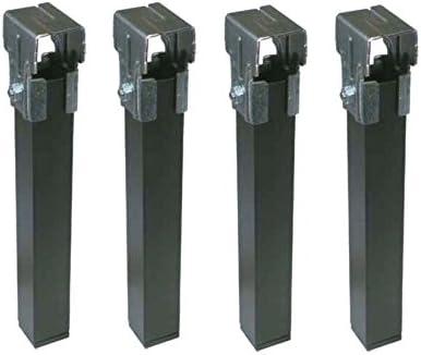 Micel 96404 Juego pata somier 30x40 sin rueda negro(4 uds pzas), 0 W, 0 V