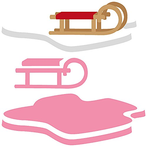 Marianne Design Collectables Eline's Sleigh and Flow Die, Pink