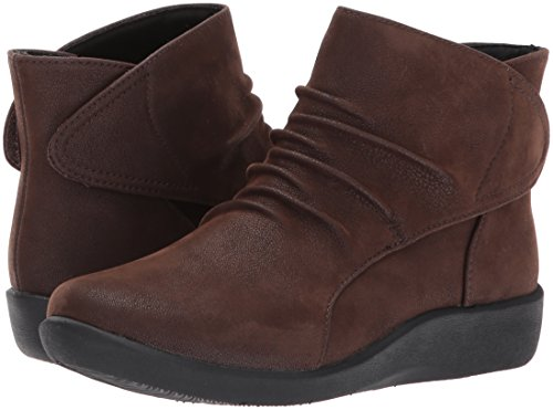 CLARKS Women's Sillian Sway Ankle Bootie, Brown, 8 M US by CLARKS (Image #6)