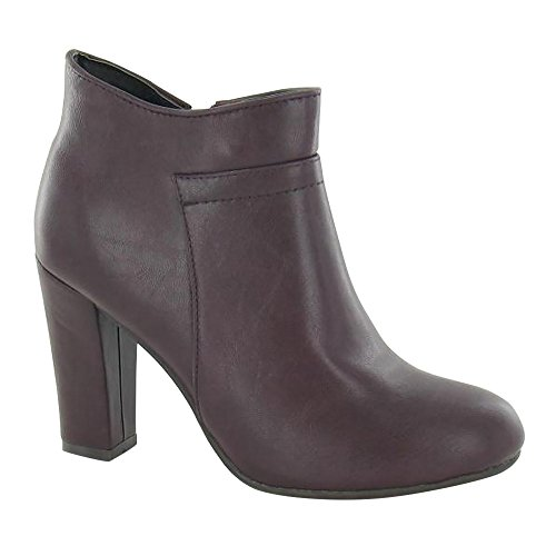 Ladies Zip Heeled Womens Boots Ankle Brown On Up Spot pTqwnBg1E