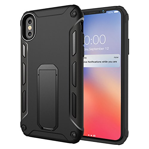 iPhone X Case, iPhone 10 Case, Ztotop Heavy Duty Protection Shockproof Rugged Cover Shell Skin with Kickstand [Soft TPU and Hard PC] for Apple 5.8 iPhone X / iPhone 10 (2017 Release) ( White )