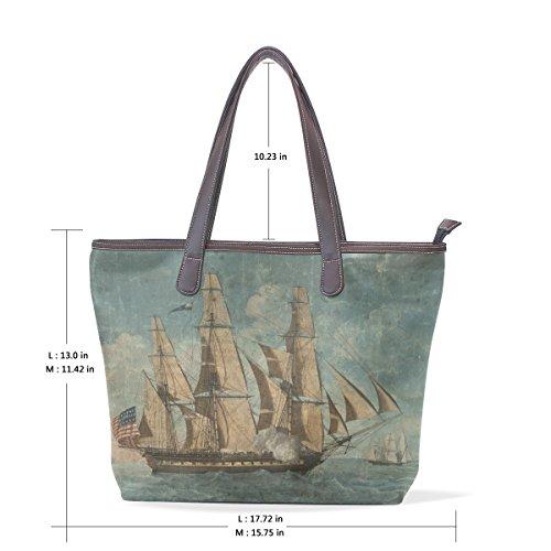 COOSUN Womens US Boot Pu Leder Große Einkaufstasche Griff Umhängetasche