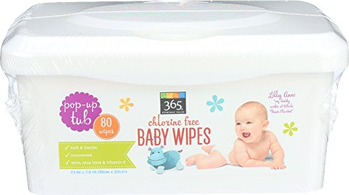365 Everyday Value Baby Wipes Pop-up Tub, 80 Count Cherry