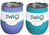 Occasionally Made O-SW-9-BK Swig Wine Cup, 9 oz (Hydrangea & Ocean)
