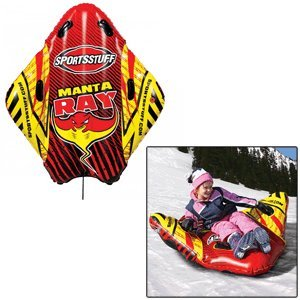 Sporsstuff Manta Ray Multicolored Plastic Inflatable Sled