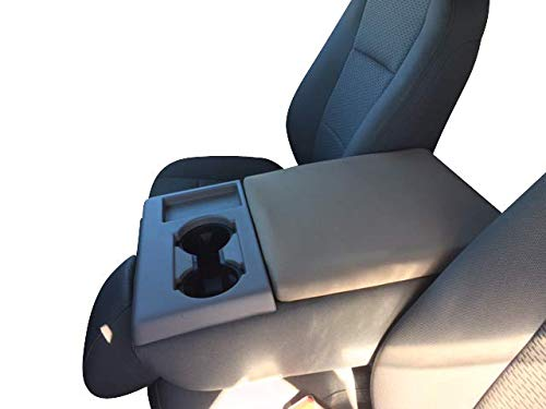 Auto Console Covers Ford F250 Center Armrest Cover - 2002-2018 Super Duty Trucks - Waterproof, Neoprene Fabric (Gray)