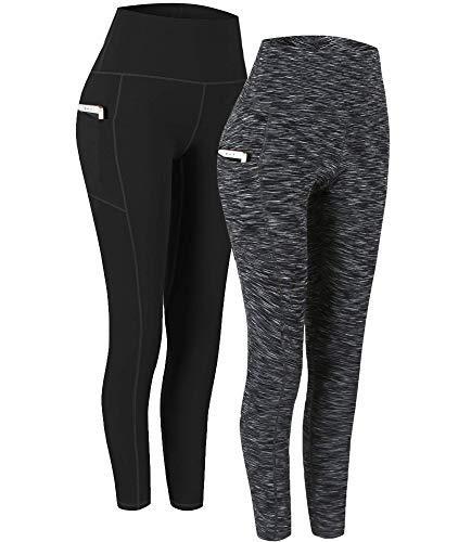 Fengbay 2 Pack High Waist Yoga Pants