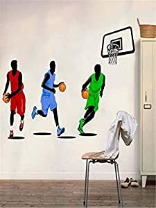 Wall Sticker Removeable Basketball Pattern Chic Home Decor