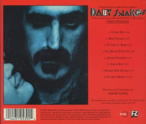 Baby Snakes (1979 Film) by Frank Zappa