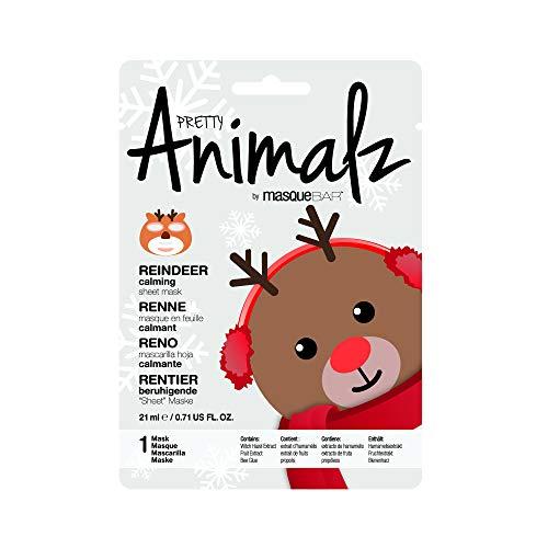 masque Bar Reindeer Sheet Mask w/Grapefruit - Calming Facial Pore Refiner to Help Prevent Acne, Blemishes, Oily Skin, Blackheads - Made in Korea ()