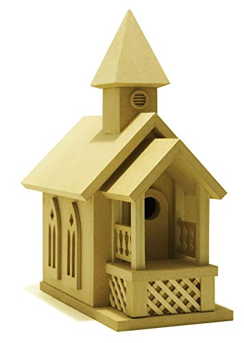 (American Original Dollhouse DIY Prairie Church Birdhouse Kit)