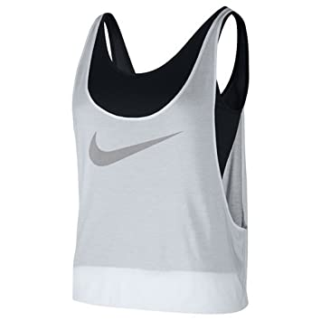 buy popular 80b85 d0ae3 Nike 745367-100 Débardeur Femme, Noir Blanc, FR   M (Taille