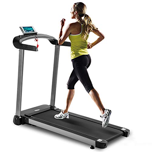 Merax Folding Treadmill,Electric Motorized Treadmill with MP3 Player, Low Noise Running Machine for Home,Electric Light Commercial Treadmill with 12 Built-in Workout Programs