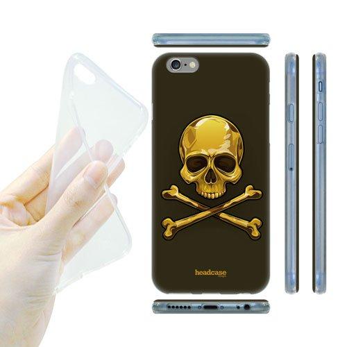 Head Case Designs Gold Skulls and Crossbones Gel Back Case Cover for Apple iPhone 6 4.7