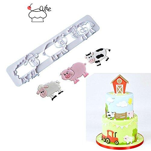 (1 Set Aouke Molds Pig Sheep Cow fondant cutter cake mold fondant mold fondant cake decorating tools sugarcraft P119)