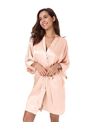 Pigiama XS Accappatoio XXL da Vestaglia Kimono Notte Kimono Sleepwear SIORO Rosa Pyjamas Raso Donna Shell w1tHnpwqTC