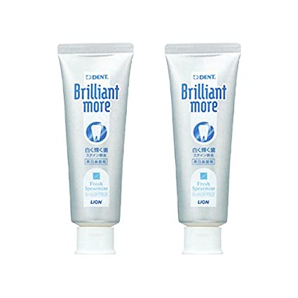 Lion Brilliant More Fresh Spearmint 90g 2 Tubes
