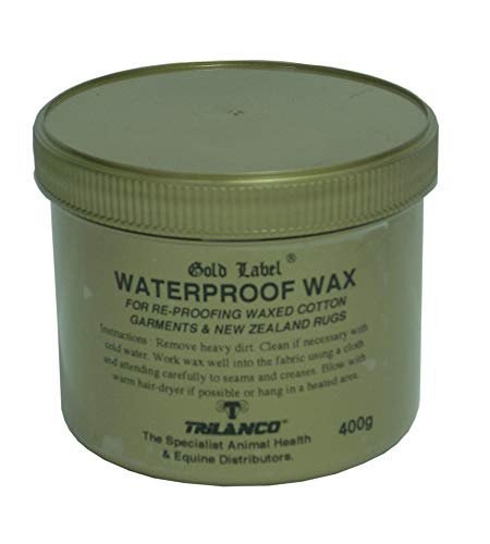 (Waterproof Wax, Gold Label. Re-proofing For All Waxed Cotton Garments, 400 Gm)