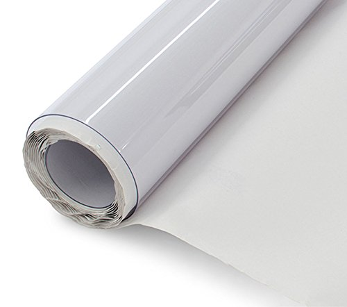 LA Linen 40 Gauge Marine & Automotive Double Polished Super Clear UV Rated Vinyl, 54-Inch Wide by 108-Inch Long Roll