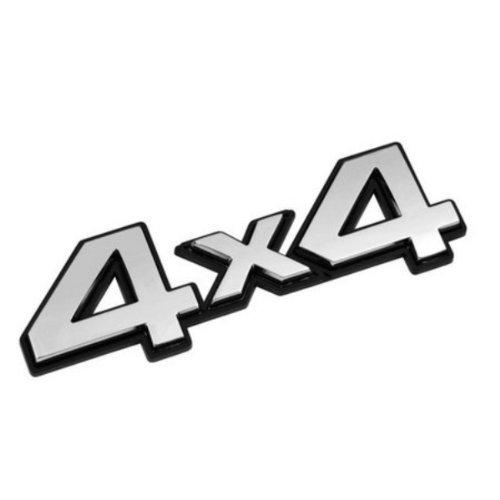 Akhan 3D07206 - Chrom 3D Schriftzug Emblem Logo 4x4 akhan-tuning