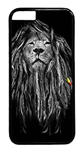 iPhone 6 Case, Rasta Lion Designer Rugged Hard Plastic Back Case Cover Protector for Apple iPhone 6(4.7INCH) PC Black