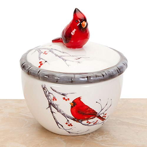 Bits and Pieces - Ceramic Cardinal Trinket Box - Keepsake and Jewelry Box - Home Décor from Bits and Pieces