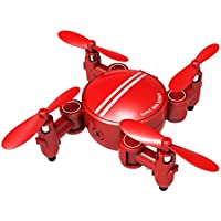 Owill Foldable Camera Drone RC Mini Wifi Quadcopter Altitude Hold 2.4 4CH 6-Axis Gyro 3D UFO FPV Helicopter (Red)
