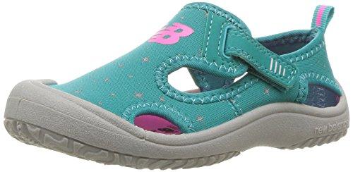 Kids Stretch Sandal (New Balance Baby Kid's Cruiser Sport Sandal, Green/Grey, I8 M US Toddler)
