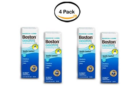 PACK OF 4 - Bausch & Lomb Boston Original Conditioning Solution, 3.5 FL OZ