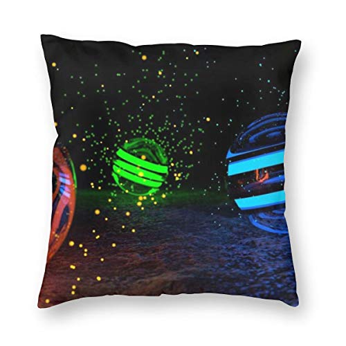 Osvbs Spheres of Particles Wallpaper Personalized Multi-Code Creative Home Double-Sided Printed Pillowcase Without Pillow Core with Invisible Zipper 18
