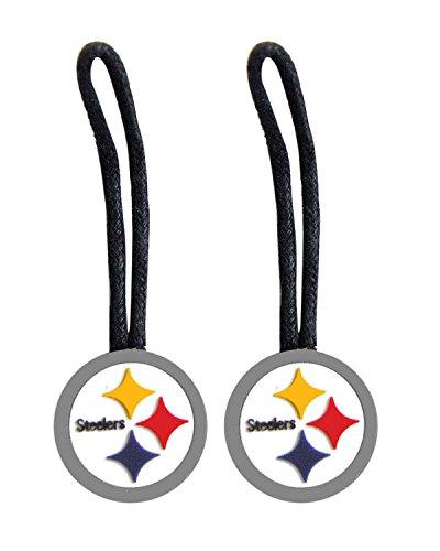 NFL Pittsburgh Steelers Sports Team Logo Zipper Pull Charm Tag Set Luggage Pet ID
