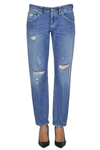 DONDUP Femme MCGLDNM03040E Bleu Coton Jeans
