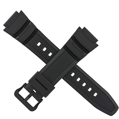 Genuine Casio Watch Strap Band for W-218H W 218H 218 Black 10569210