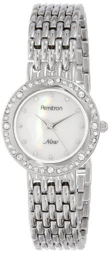 Armitron Women's 75/5190MPSV Swarovski Crystal Accented Silver-Tone Bracelet Watch