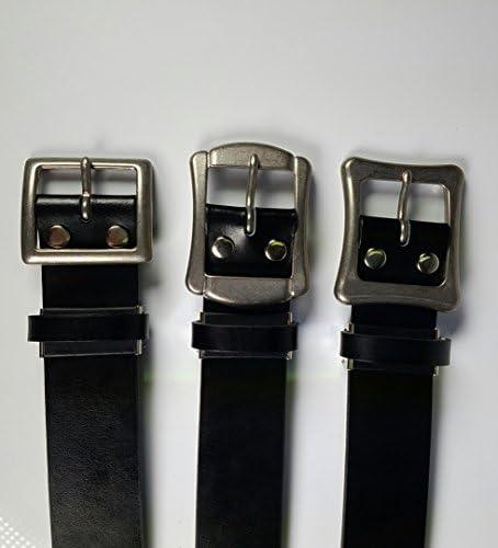 《ロング ベルト》 SeaLand ギャリソン ベルト ウエスト50~130cmまで:幅40mm ②【ブラック】 日本製